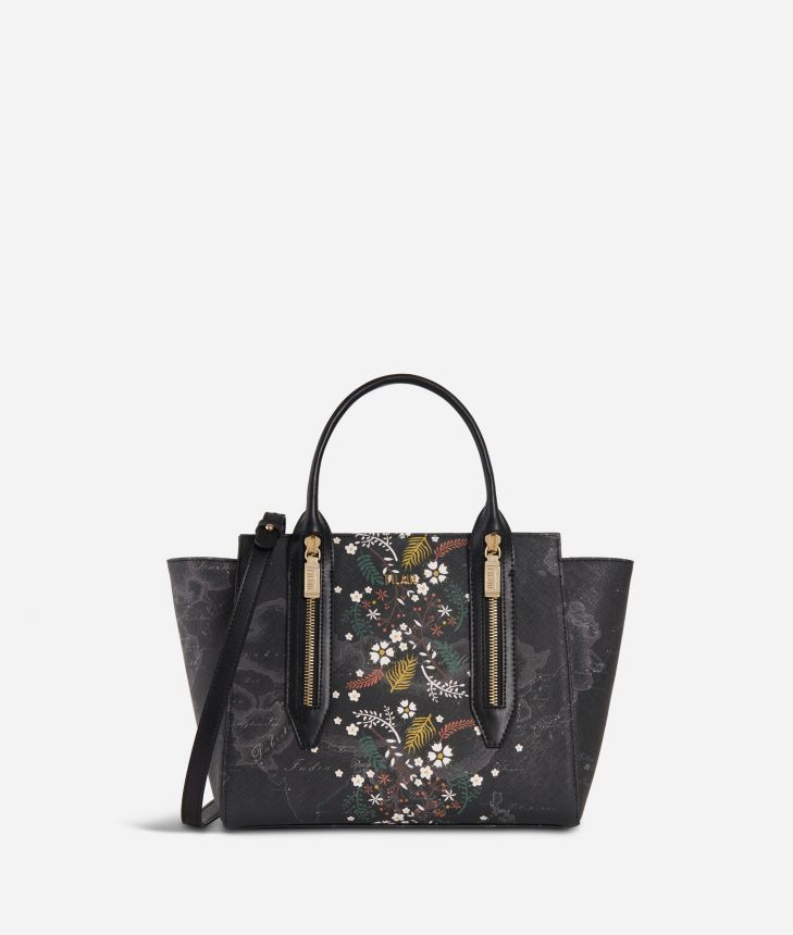 Autumn Night Small Handbag Black,front