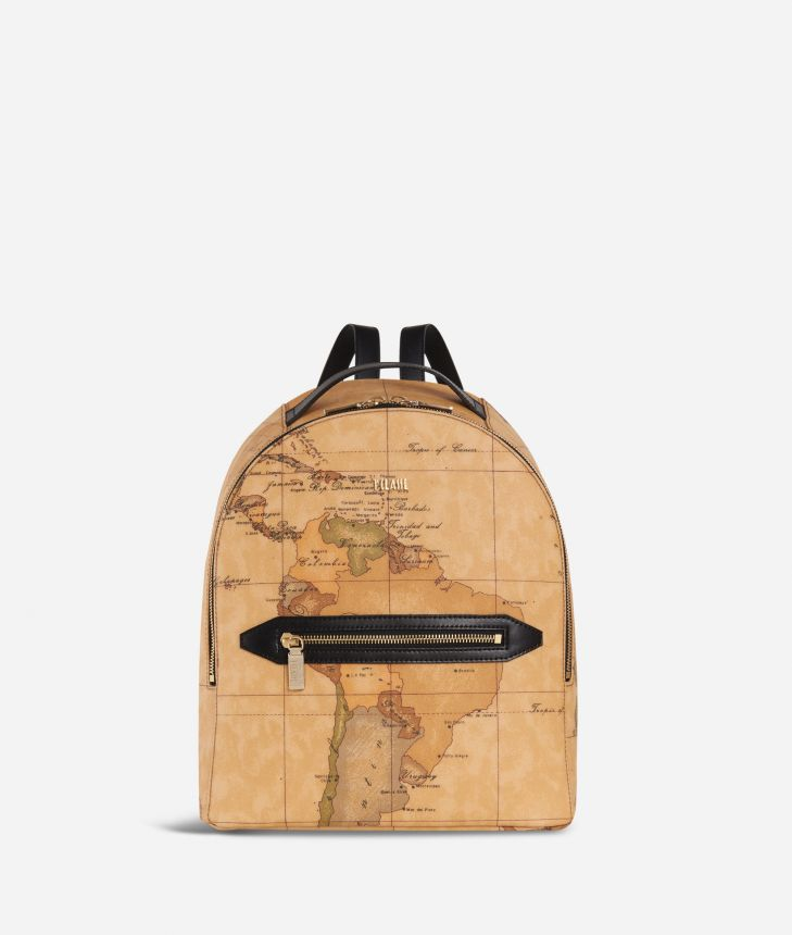 Autumn Geo Backpack Black,front