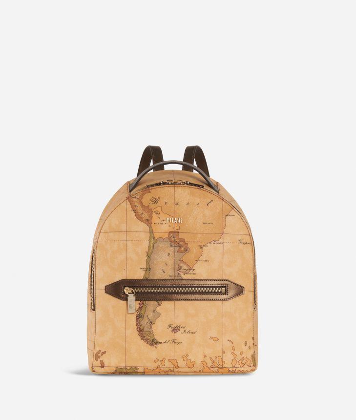 Autumn Geo Backpack Bronze,front