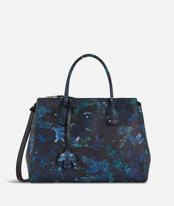 Magic Forest Medium Handbag Blueberry,front