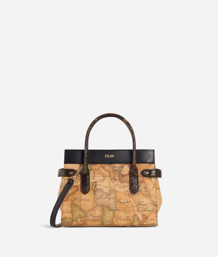 Fantasy Geo Small Handbag Black,front