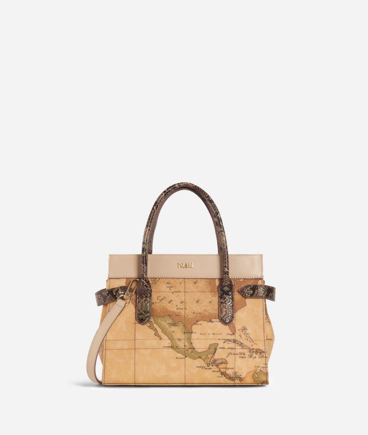 Fantasy Geo Small Handbag Cream,front