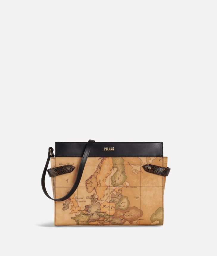 Fantasy Geo Crossbody Bag Black,front