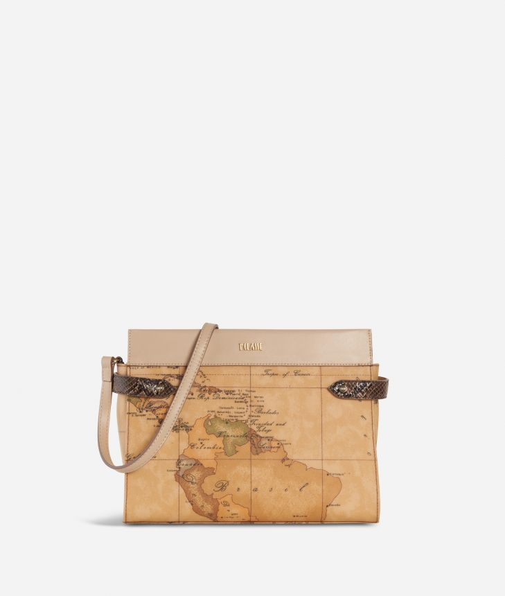 Fantasy Geo Crossbody Bag Cream,front