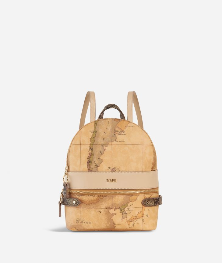 Fantasy Geo Backpack Cream,front