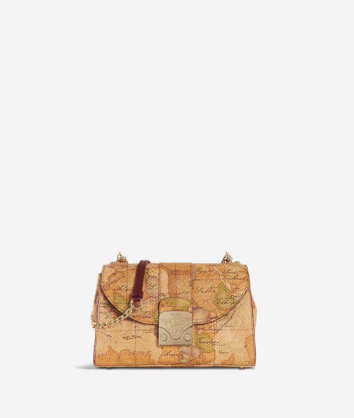 Dream Bag Geo Classic Crossbody Bag Natural Tan,front