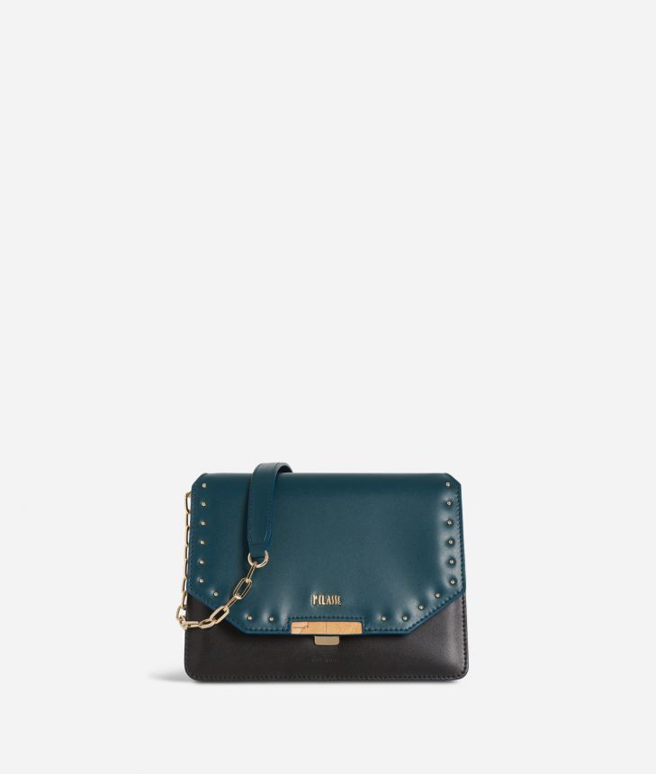 Aurora Bag Crossbody bag Black and Teal,front