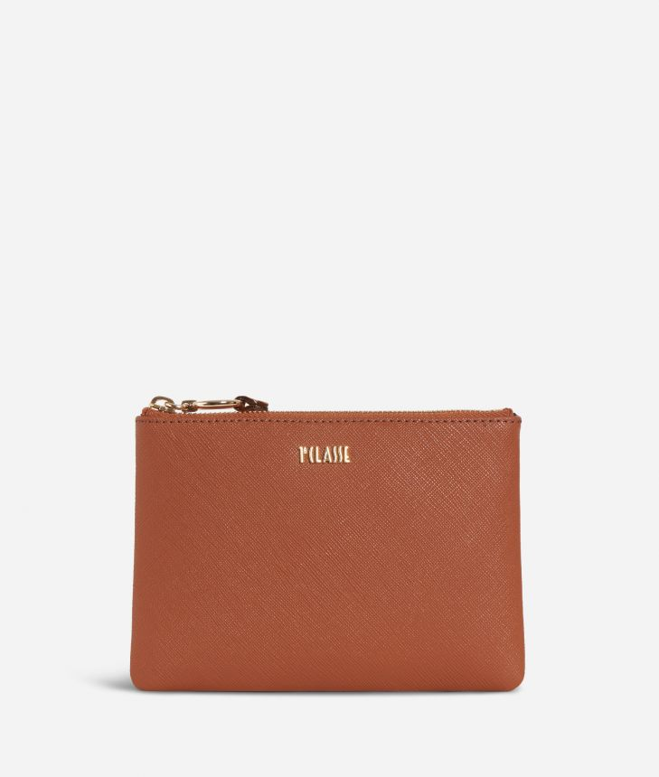 Sky City Pouch Walnut,front