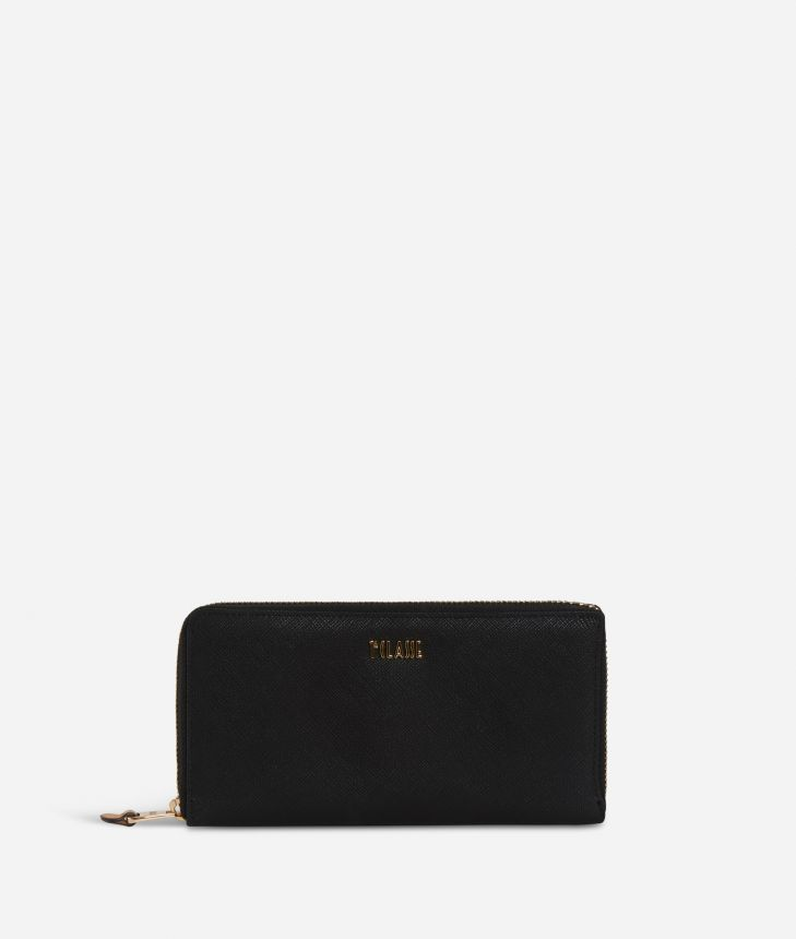 Sky City Ziparoud wallet Black,front
