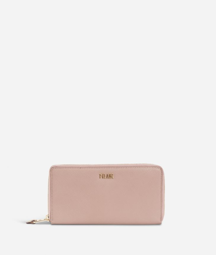 Sky City Ziparound wallet Boreal Pink,front