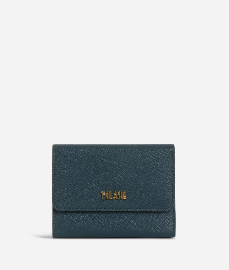 Sky City Small Wallet Teal,front