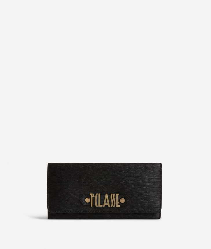 Winter Smile Wallet Black,front