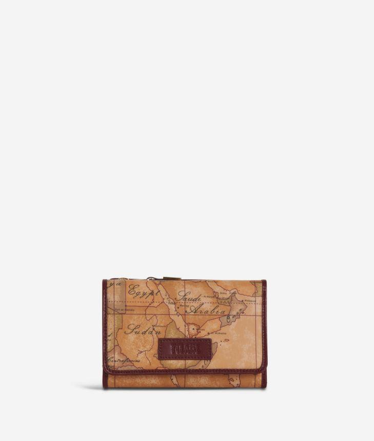 Soft Wood Bifolder Wallet Cabernet,front