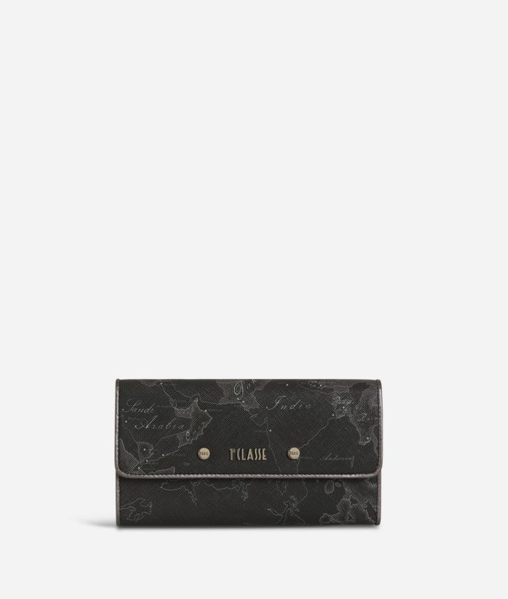 Geo Silver Night Big Wallet Black,front