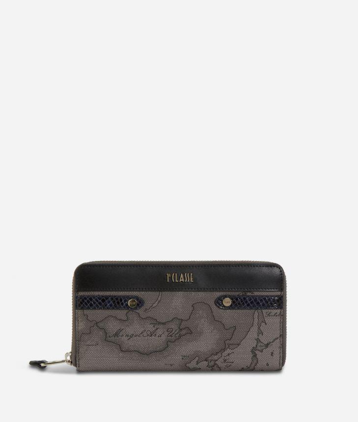 Fantasy Dark Ziparound Wallet Black,front