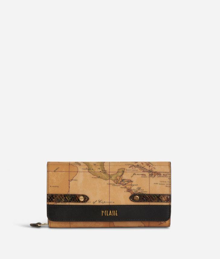 Fantasy Geo Wallet Black,front