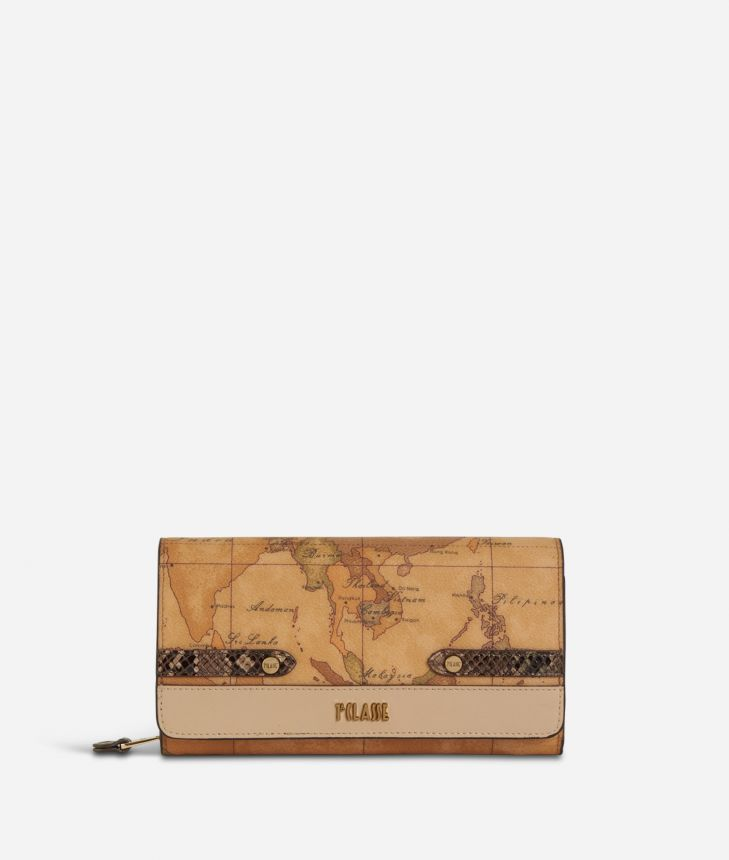 Fantasy Geo Wallet Cream,front