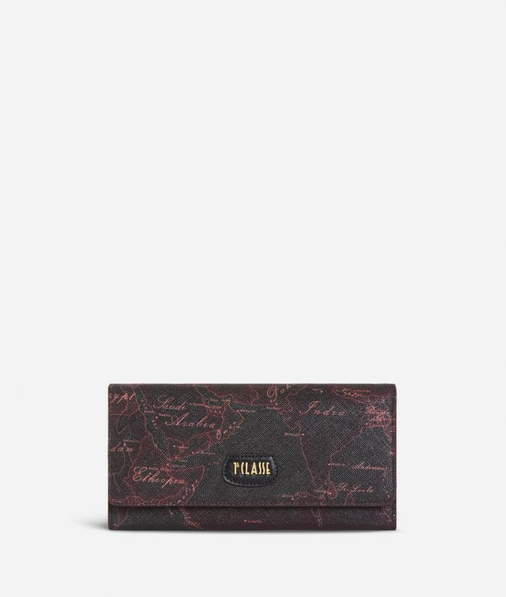 Geo Rosewood Wallet Cabernet,front