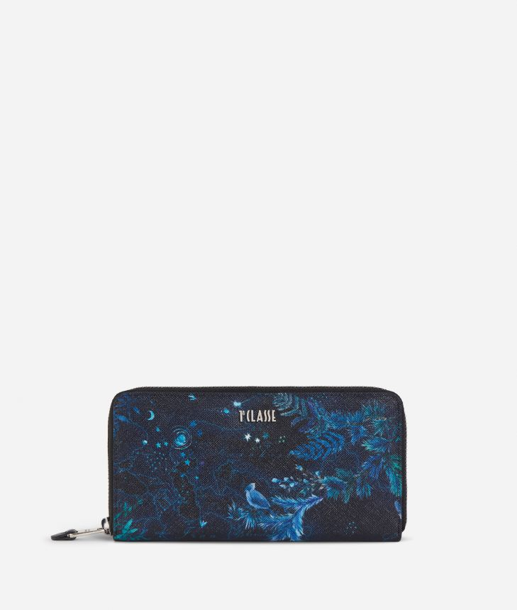 Magic Forest Ziparound Wallet Blueberry,front