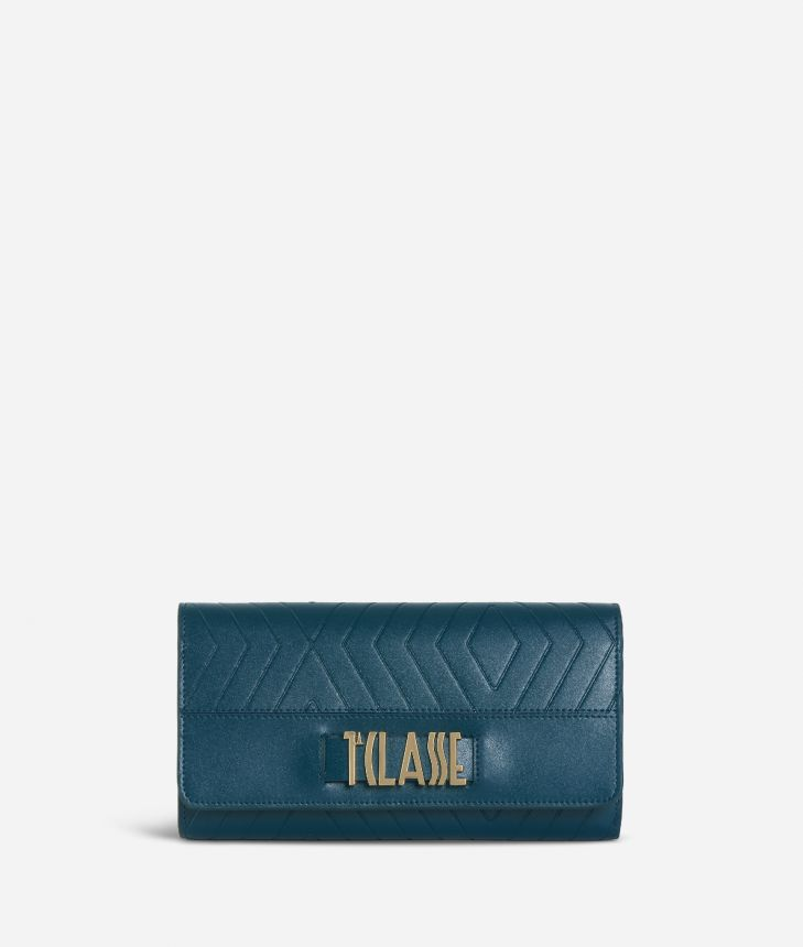Starlight Line Wallet Teal,front