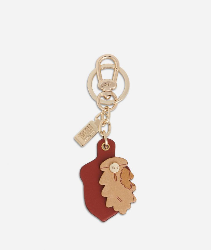 Acorn shape Keyring Maple,front