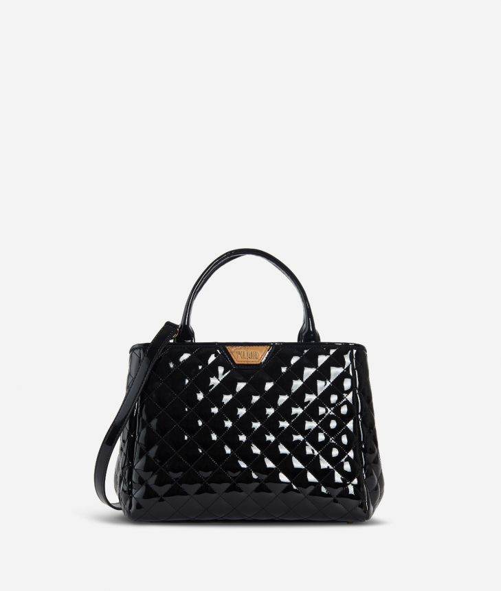 Sparkling Handbag Black,front