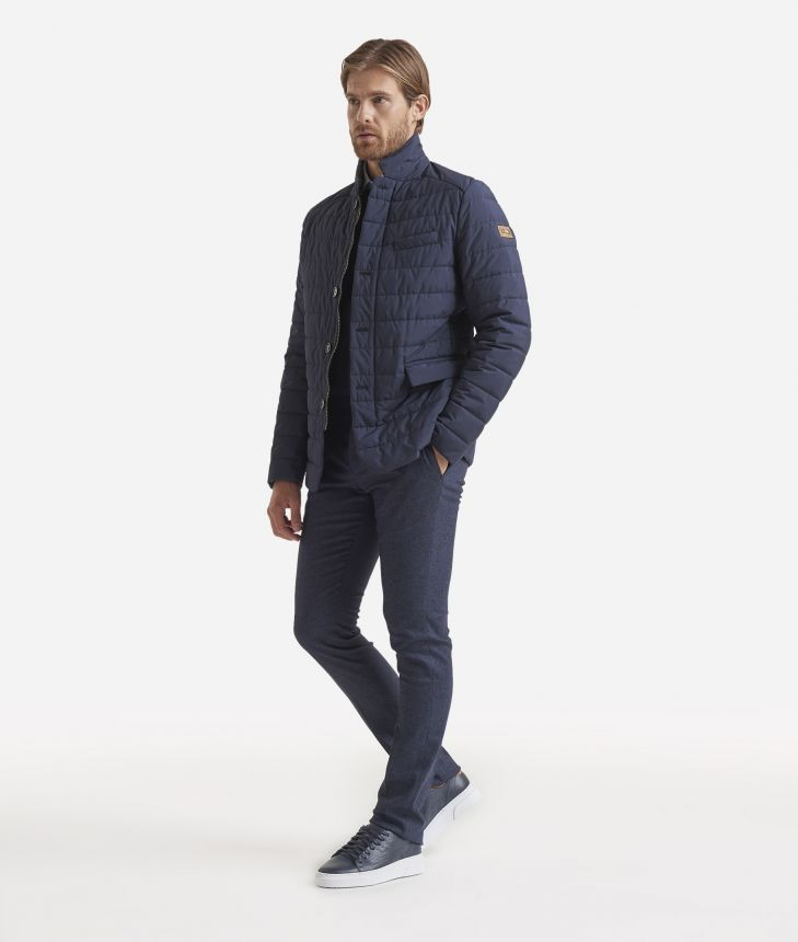 Padded jacket Blue,front