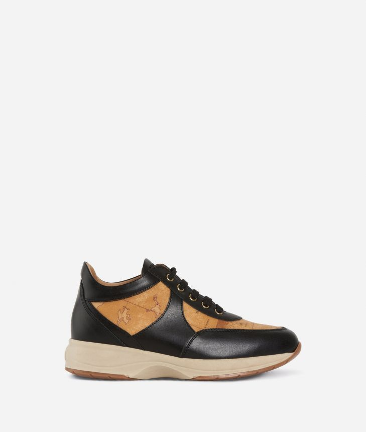 Geo Crossing sneakers in leather and Geo Classic Black,front