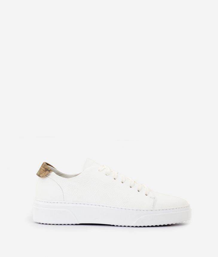 Pebbled leather sneakers White,front