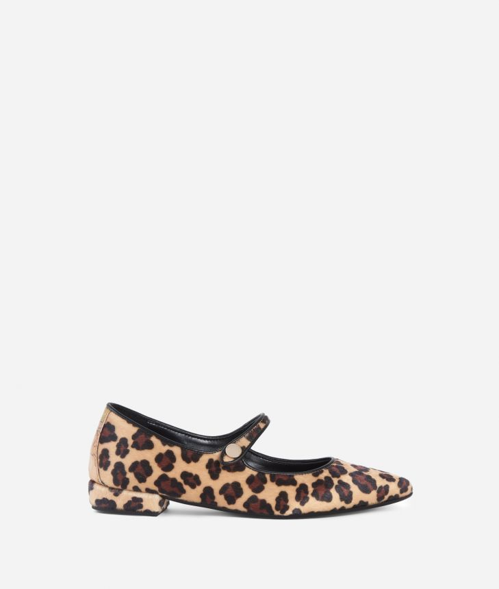 Animalier pointed ballet flat Animalier,front