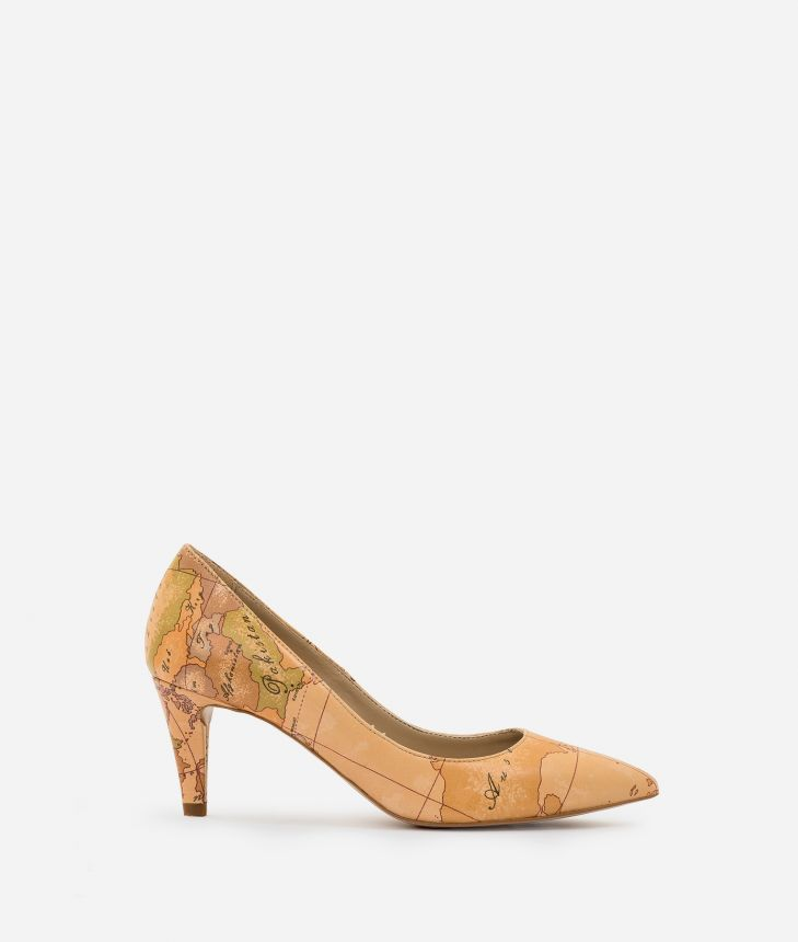Nappa leather pumps Natural Tan,front