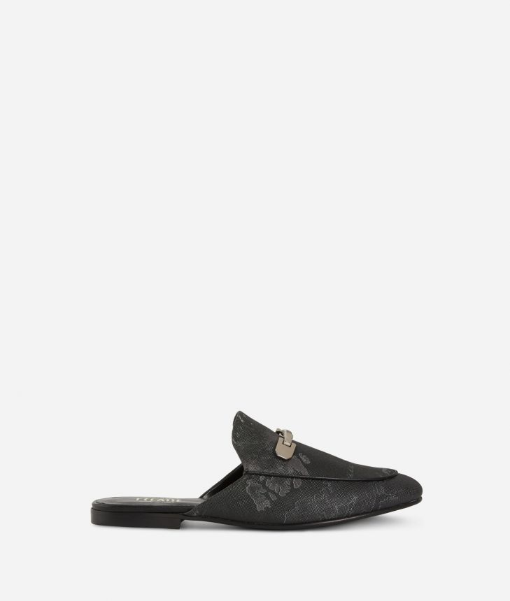 Geo Night print loafers Black,front