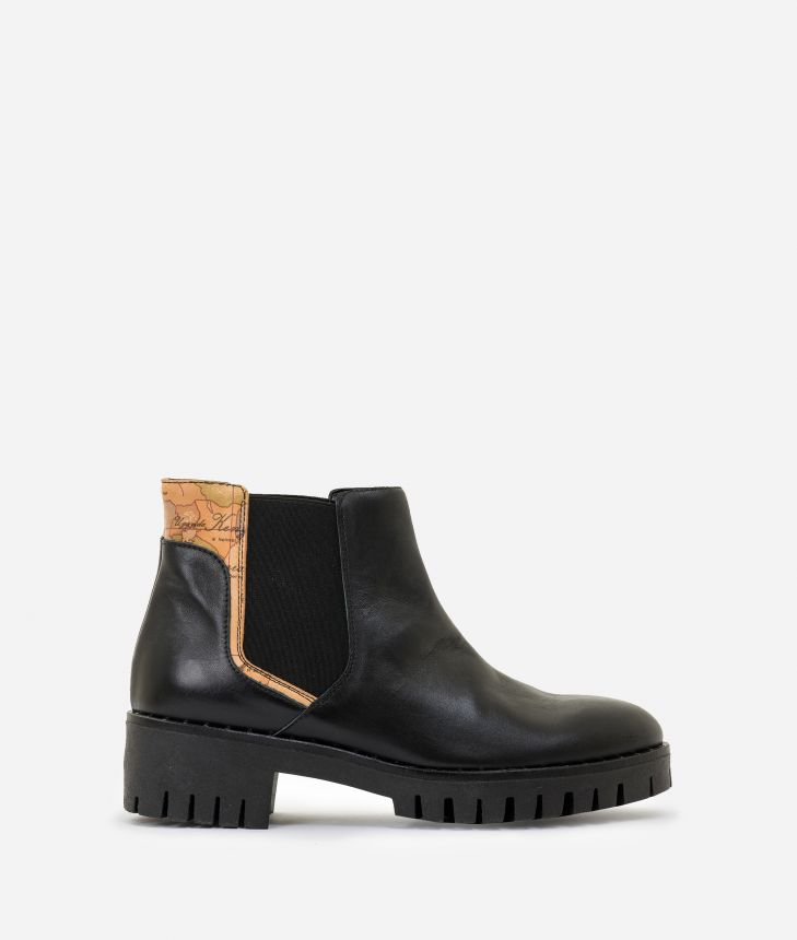 Leather and Geo Classic beatles Black,front