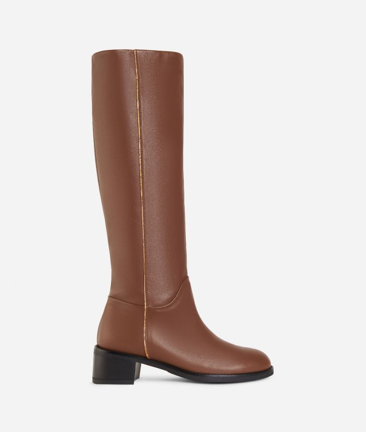 Leather riding boots Light Brown,front