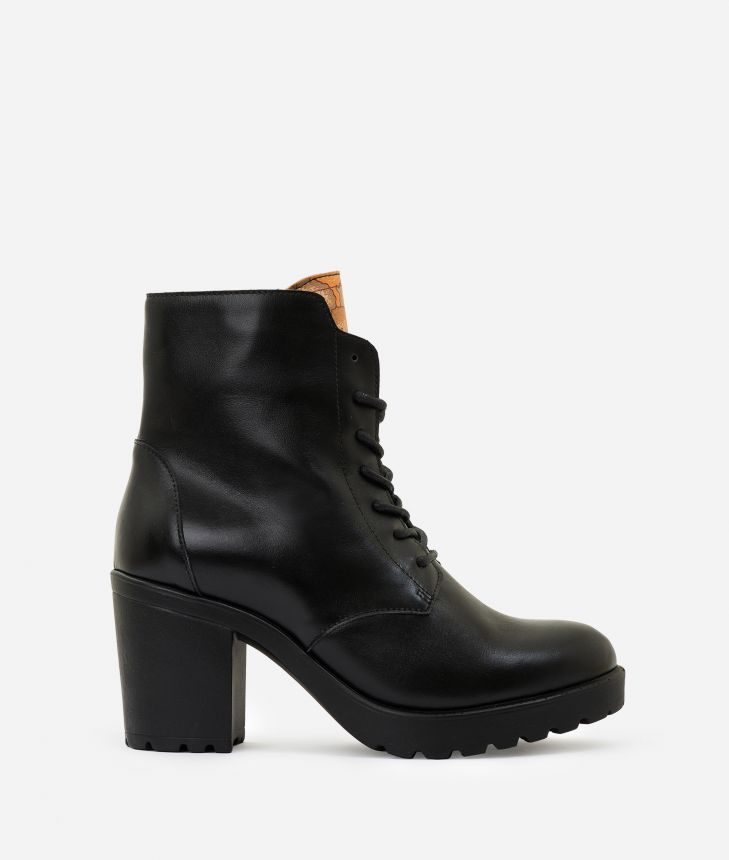 Leather ankle boots  Black,front
