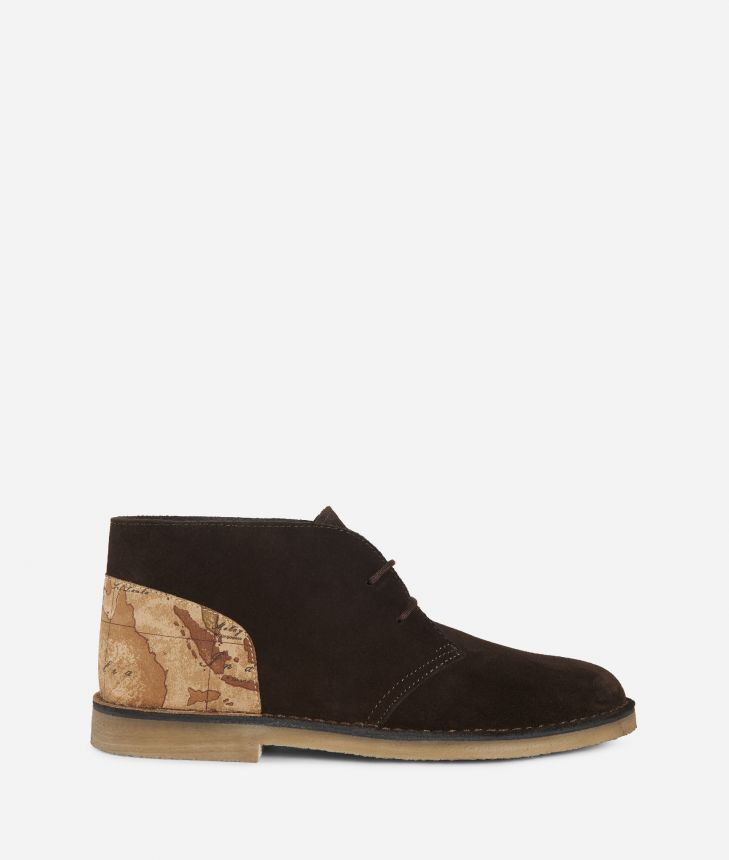 Suede leather boots,front