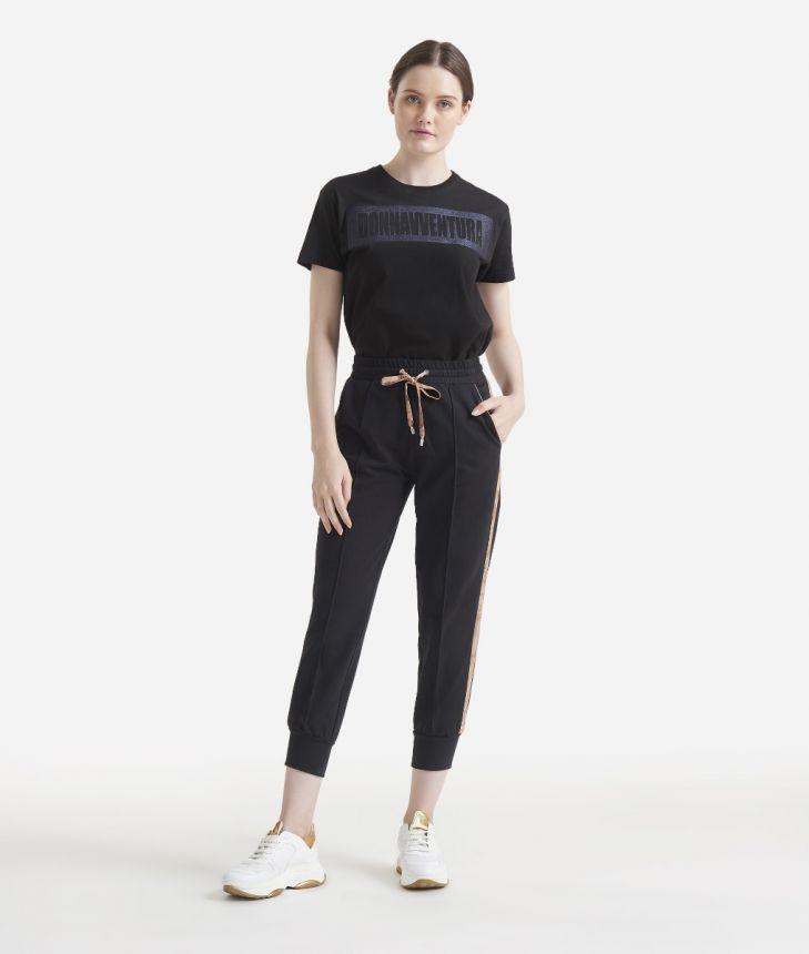 Fleece trousers Black,front