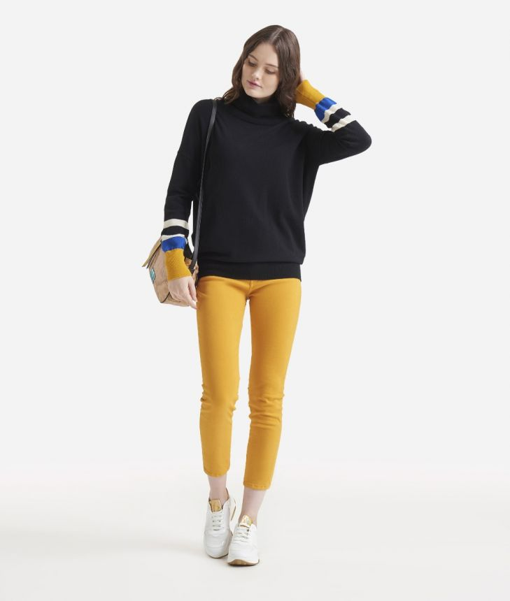 Turtleneck sweater Yellow,front
