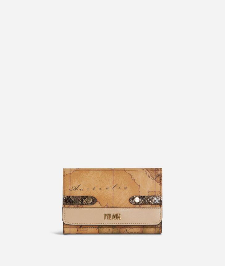 Fantasy Geo Bifolder Wallet Cream,front