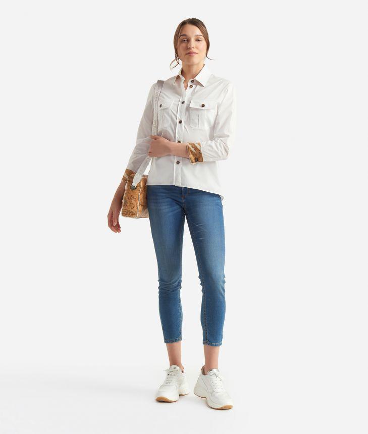 Donnavventura Shirt in popeline cotton White,front