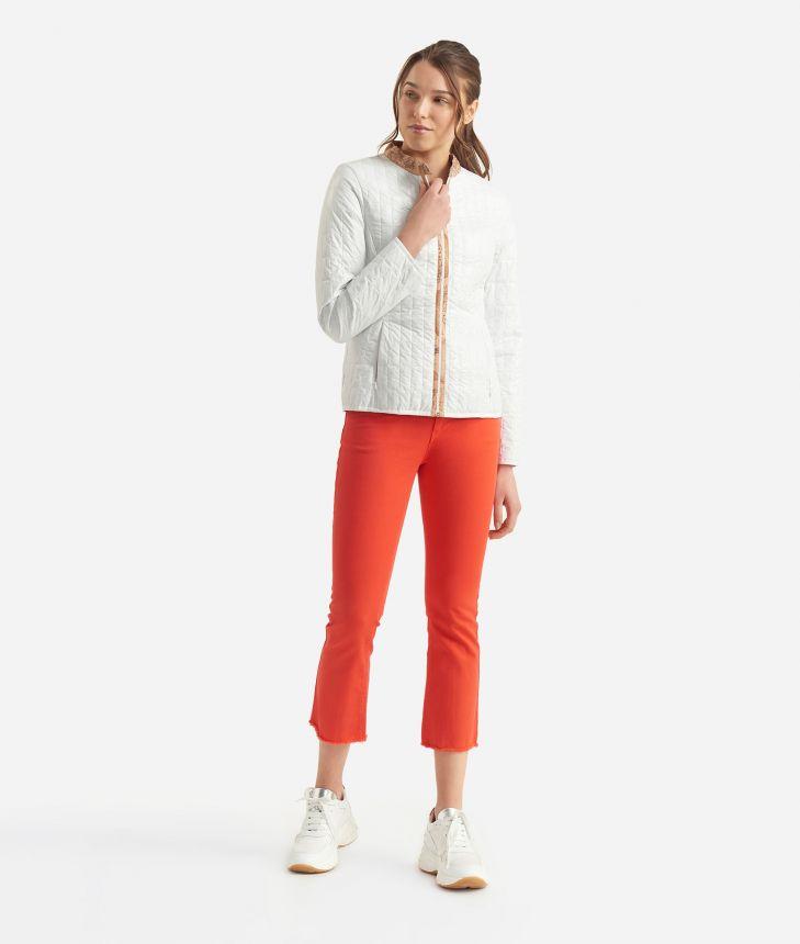 Donnavventura Padded jacket in light nylon White,front