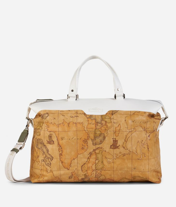 Donnavventura Duffle bag with Geo Classic print White,front