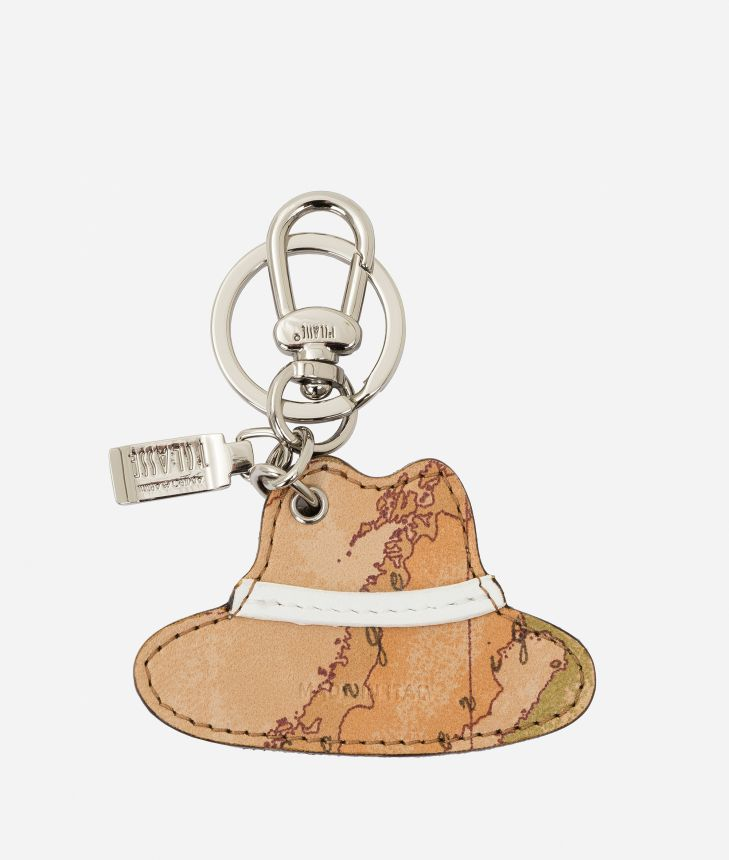 Donnavventura Keychain with Geo Classic print White,front