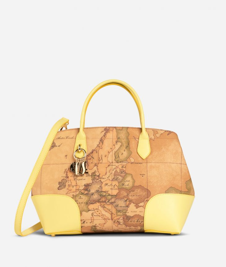 Geo Doré Handbag Yellow,front