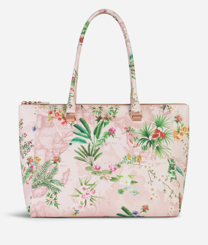 Oasis Shopping Bag Pink,front
