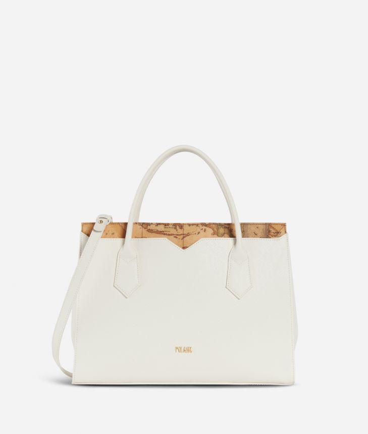 Medina City Medium Handbag White,front