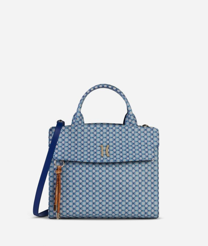 Mosaic Handbag Blue,front