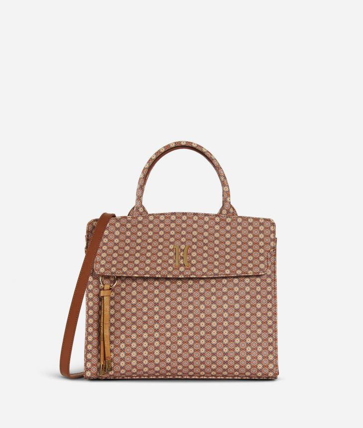 Mosaic Handbag Brown,front
