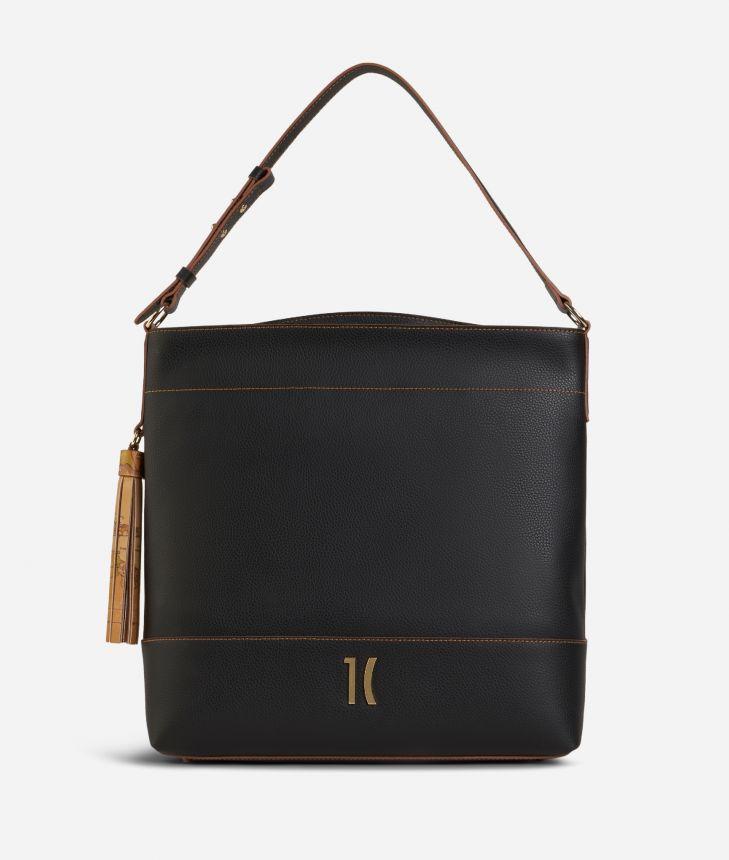 Praline Shoulder Bag Black,front