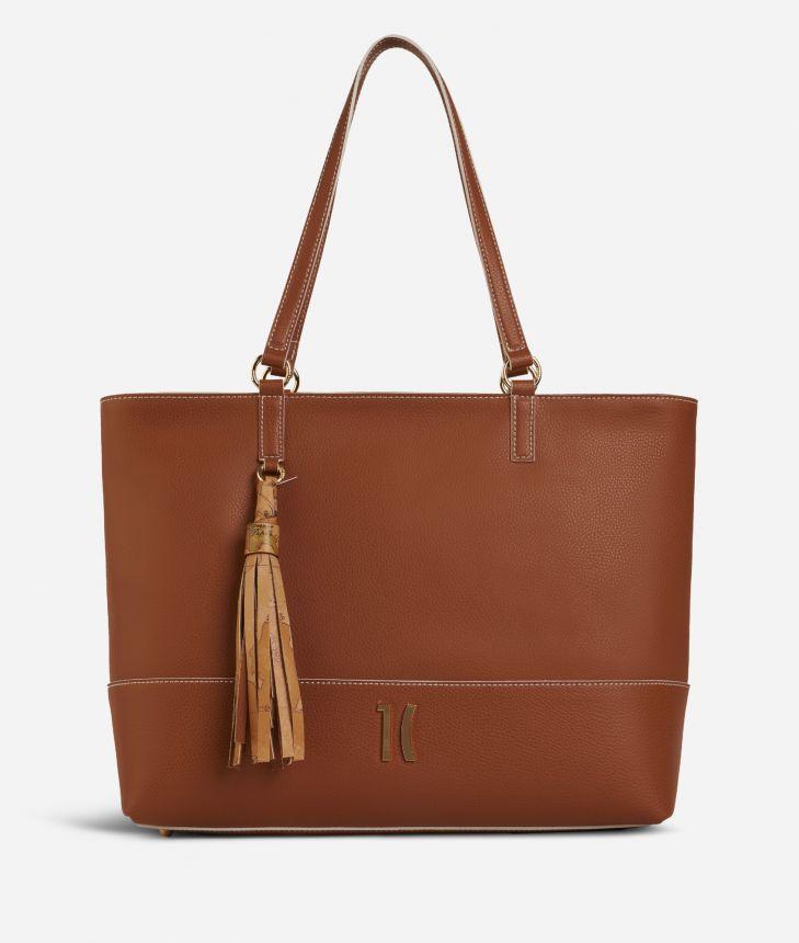 Praline Shopping Bag Brown,front